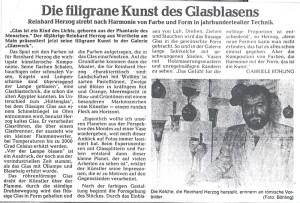 Pressebericht Glaskunst Herzog