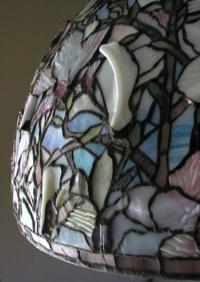 Detailansicht eines Tiffany-Lampenschirms