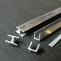 H-Blei = Innenblei, U-Blei = Randblei, rechts Stahleinlage, ©Hans Bernhard