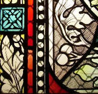 Fensterdetail, Gedächtniskirche in Speyer ©Hans Bernhard