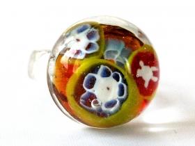 Millefiori Fingerring aus Glas