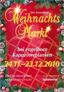 Weihnachtsmarkt Kapuzinerplanken Mannheim