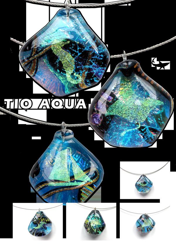 Tio Aqua Glasschmuck